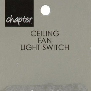 Chapter Ceiling Fan Light Switch